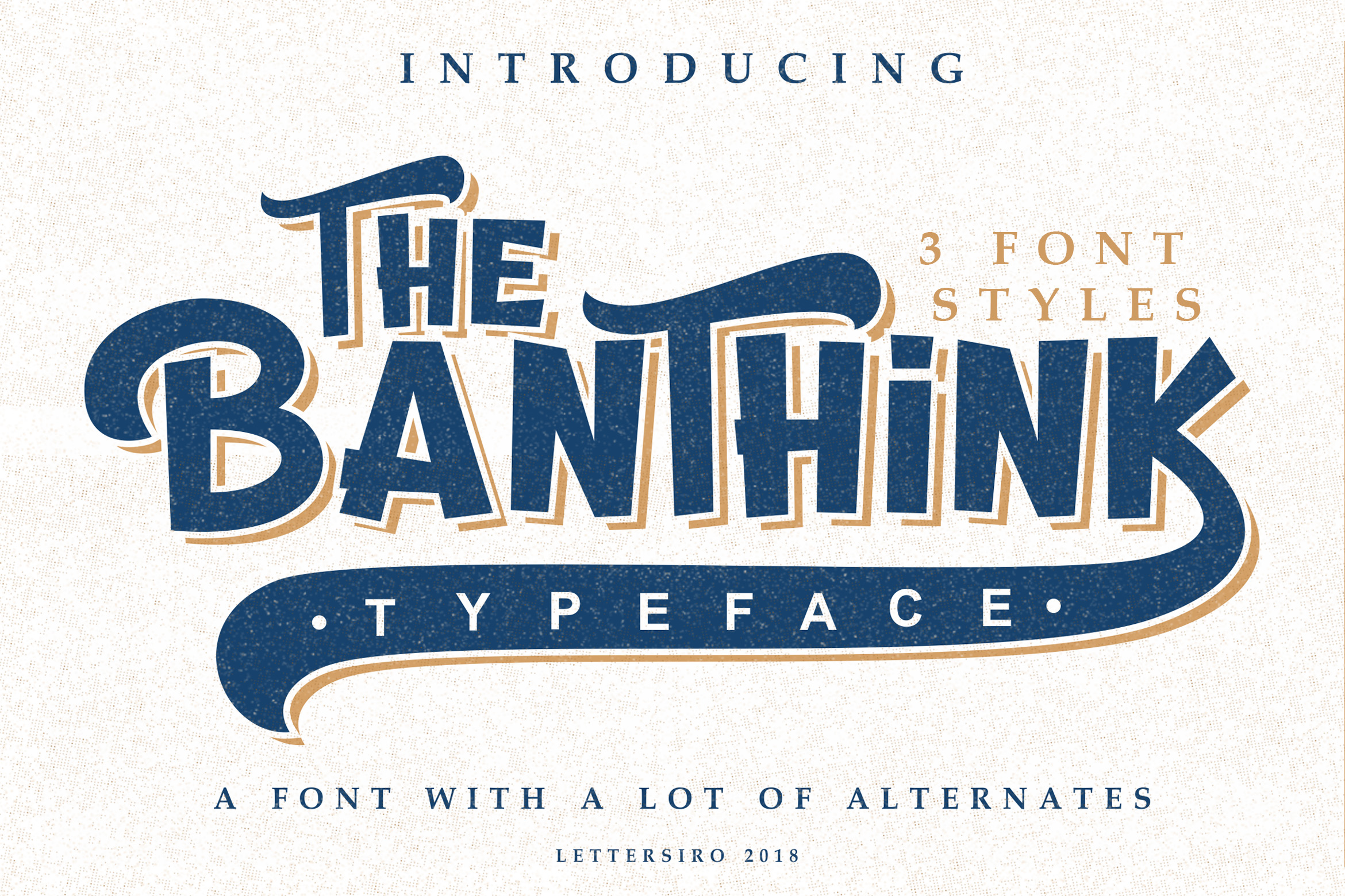 The Banthink - Retro Font example image 2