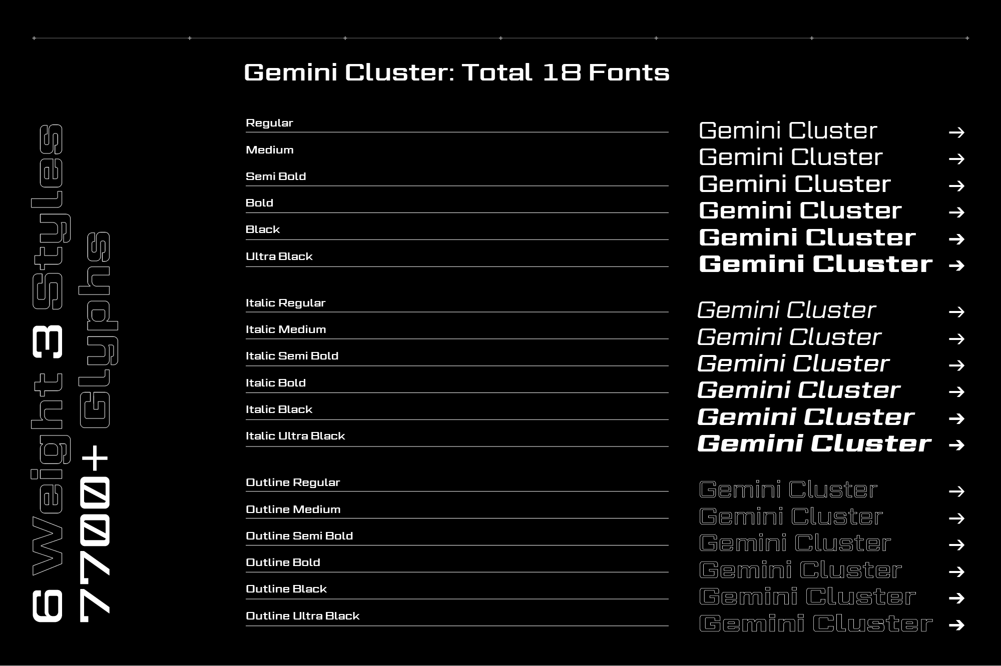 Gemini Cluster - Expanded Futuristic Fonts example image 2