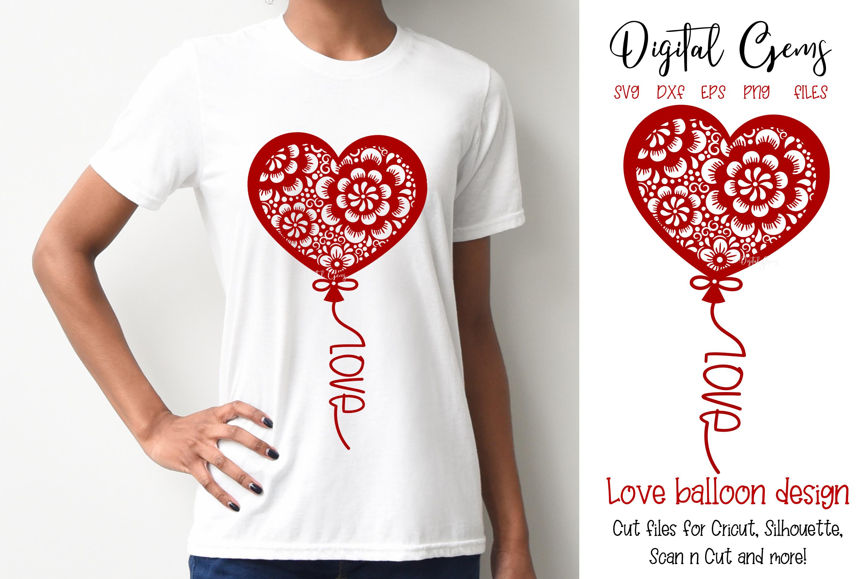Balloon, Valentines / love design example image 1