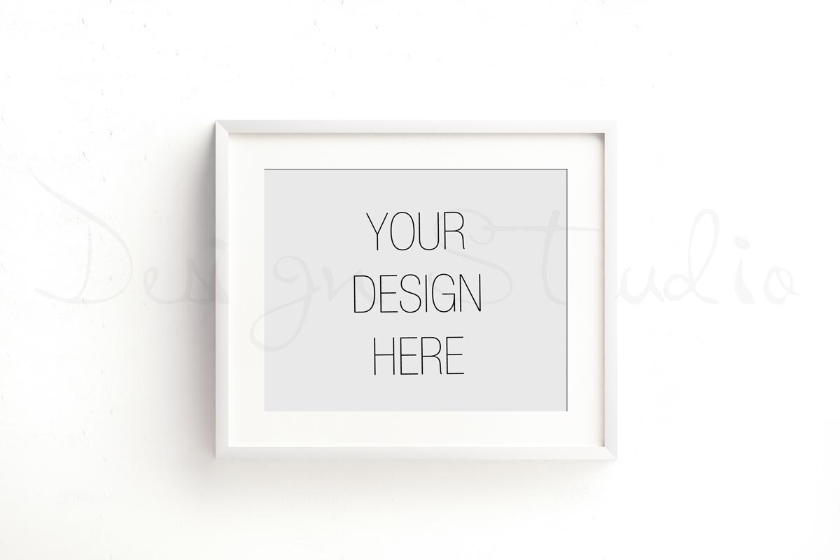 Styled Stock Photography, Frame Mockup set, vertical&Horizontal white frames example image 4