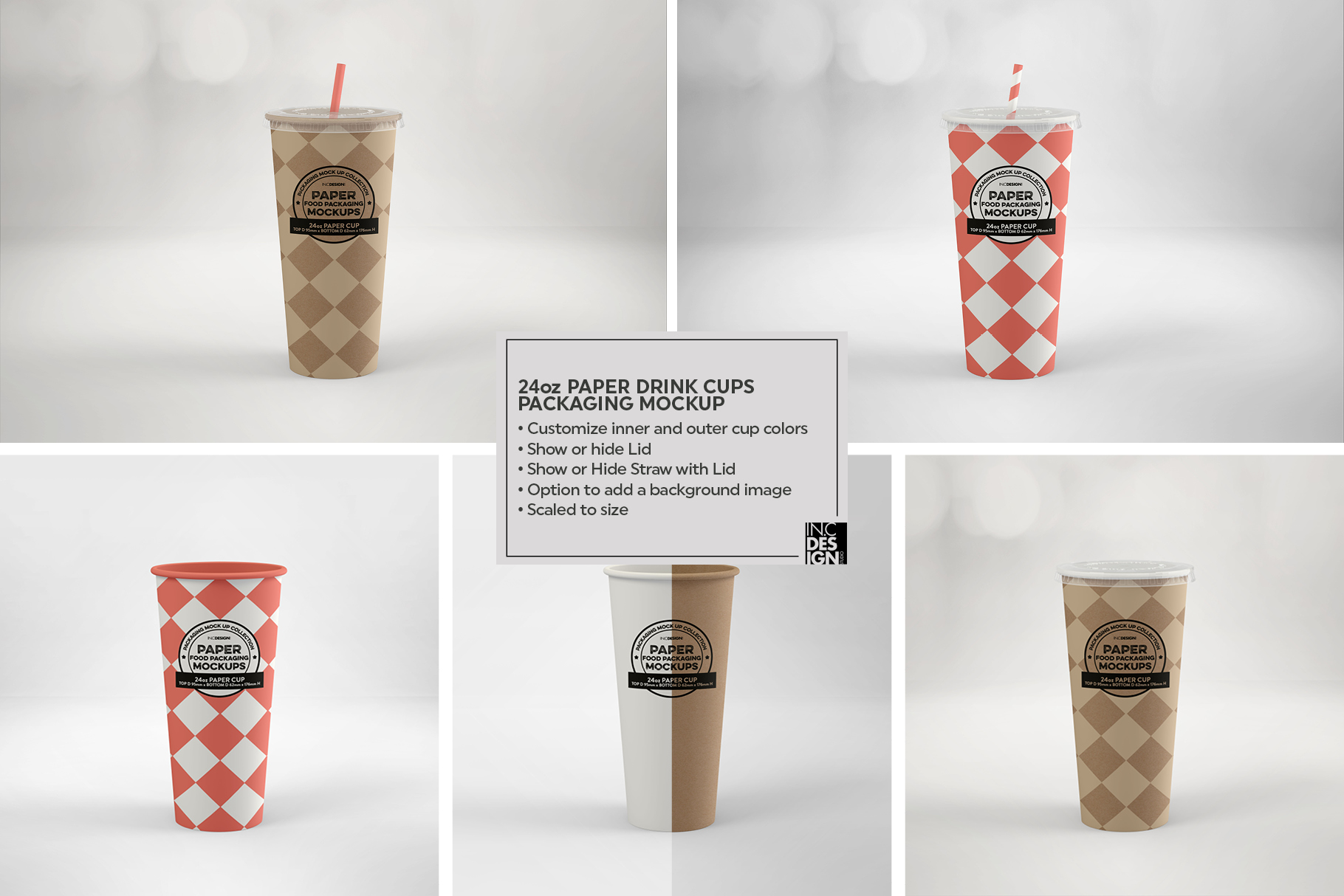 Paper Drink Cups Packaging Mockup example image 16