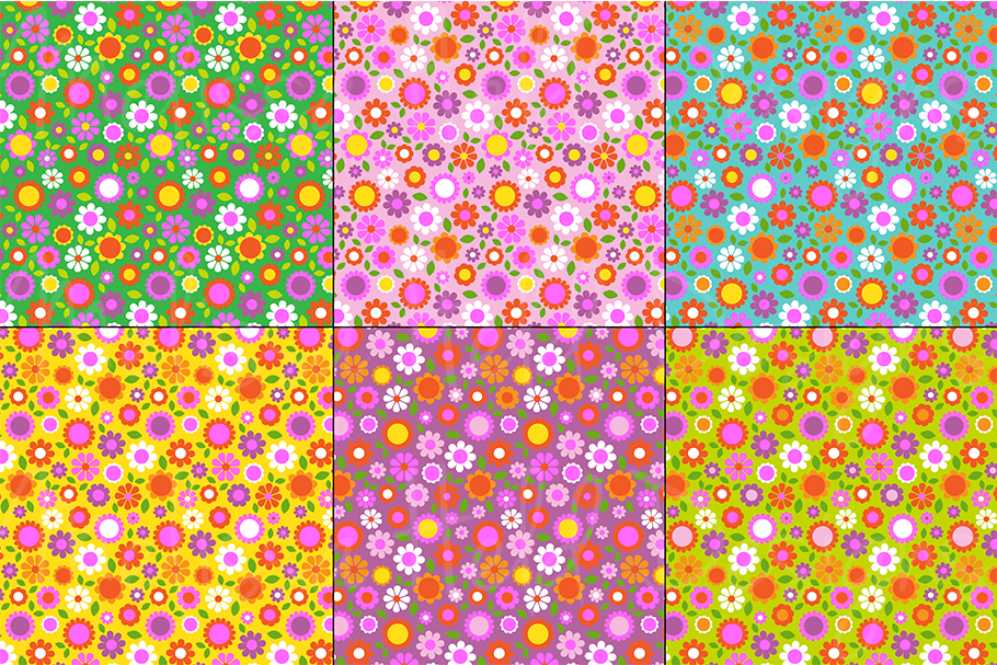 Easter Bunny Graphics & Floral Patterns example image 2