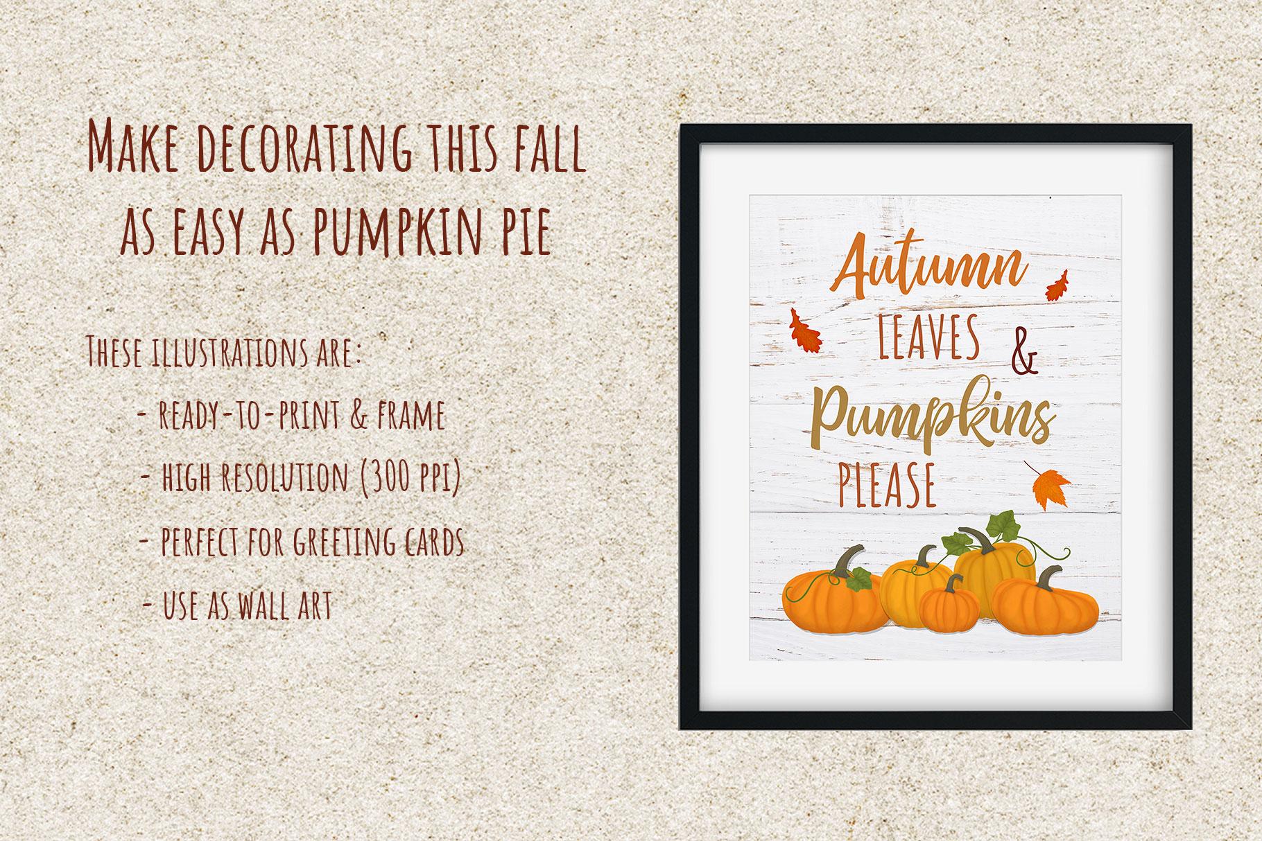 Autumn Printables & Illustrations example image 2