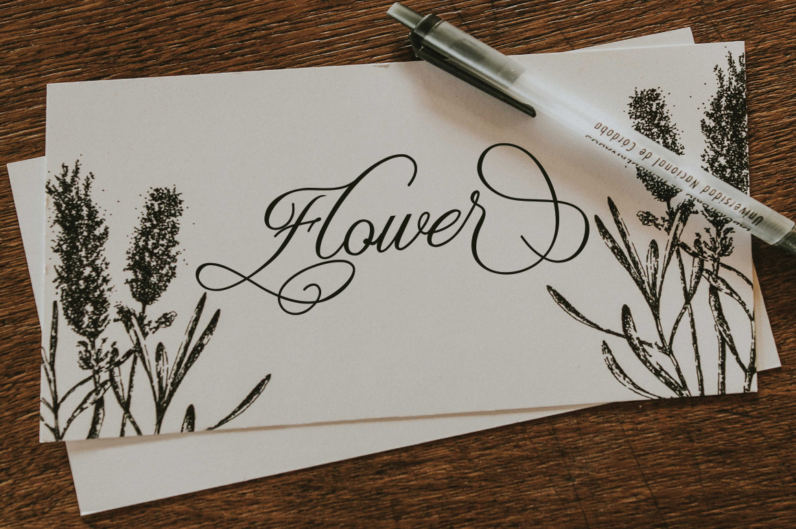 Claudia Calligraphy example image 5