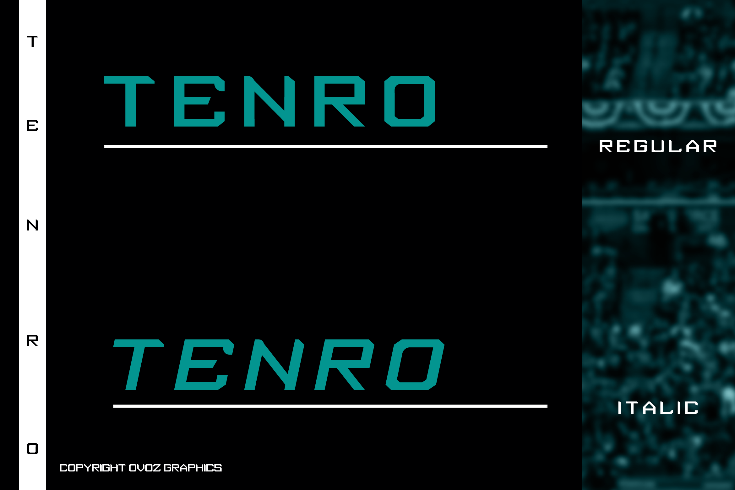 Tenro Display Font example image 2