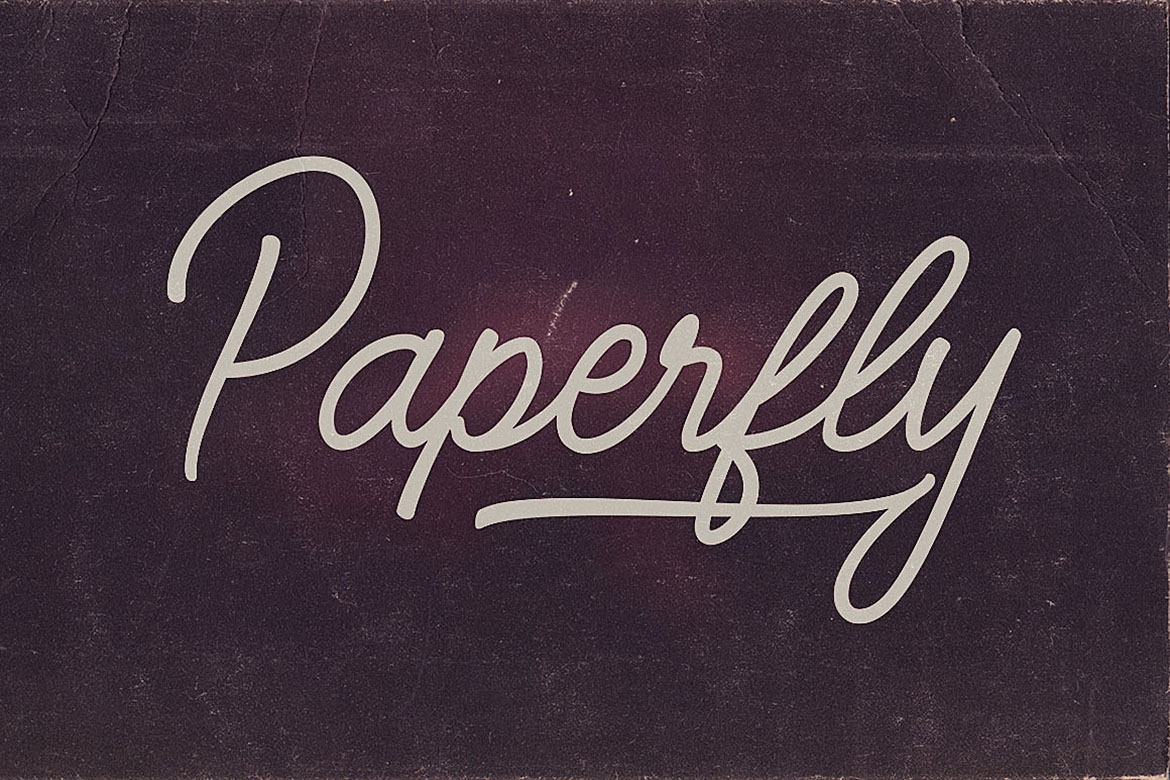 Paperfly Font Duo example image 6