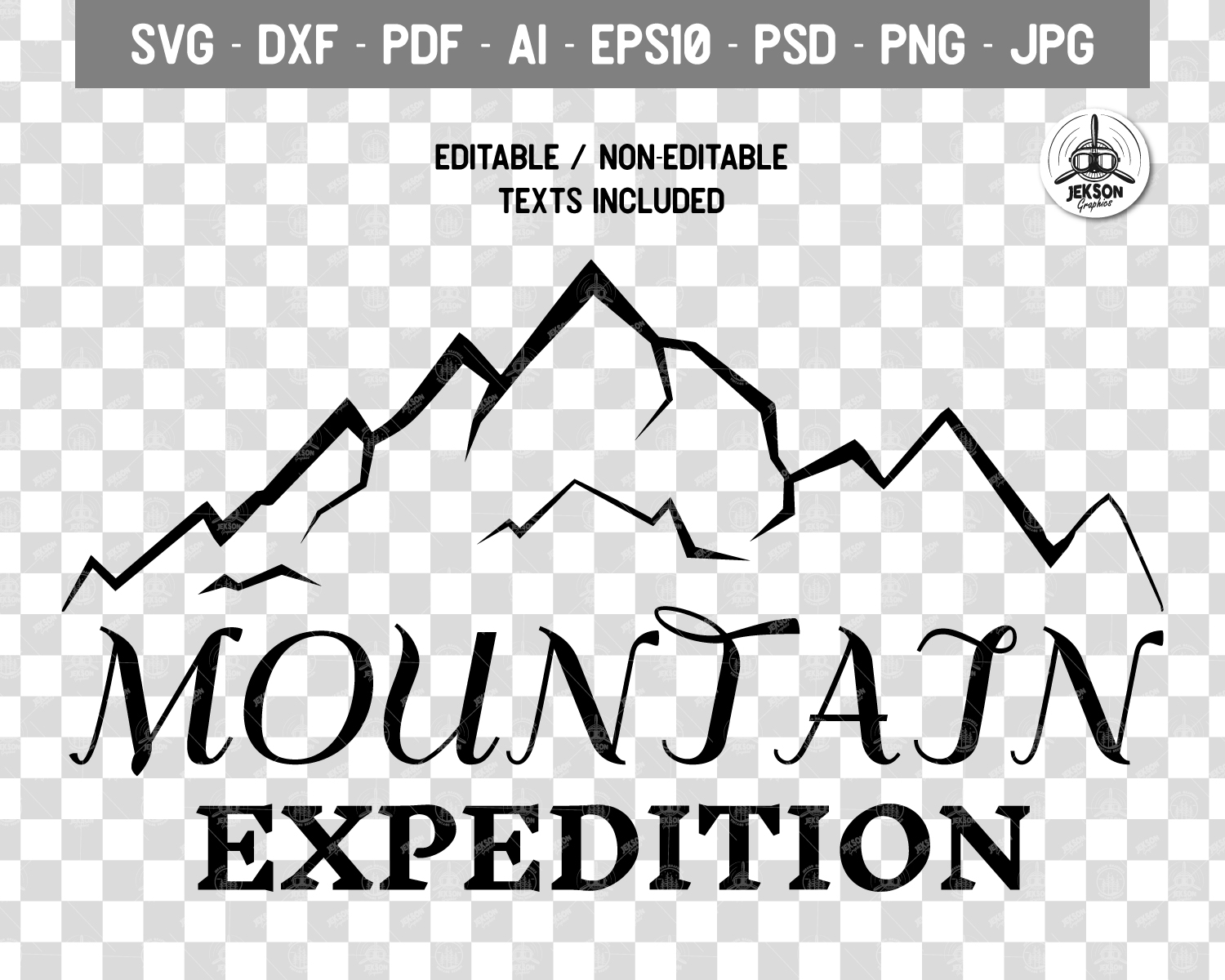 Mountain Expedition Logo Template, Retro Camp SVG File example image 4
