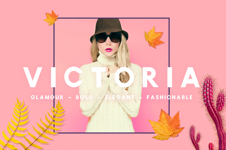 Victoria - Glamour, Elegant Headline Typeface example image 1