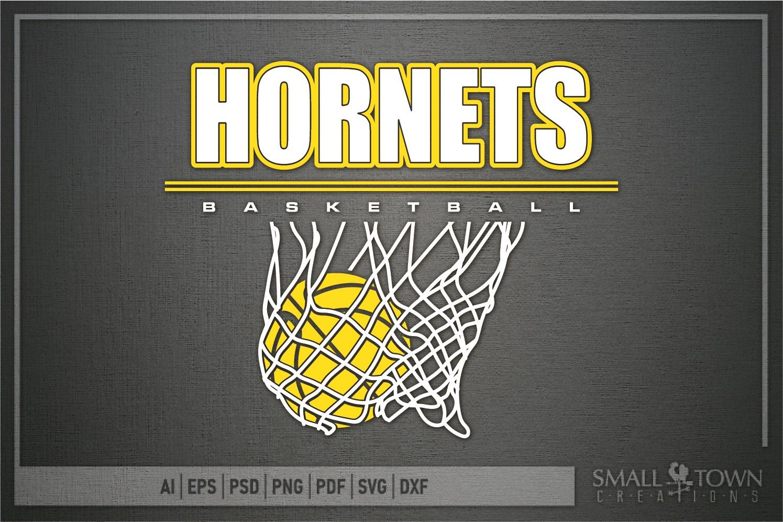 Hornet Basketball, Sport ball, team logo, PRINT, CUT, DESIGN example image 5