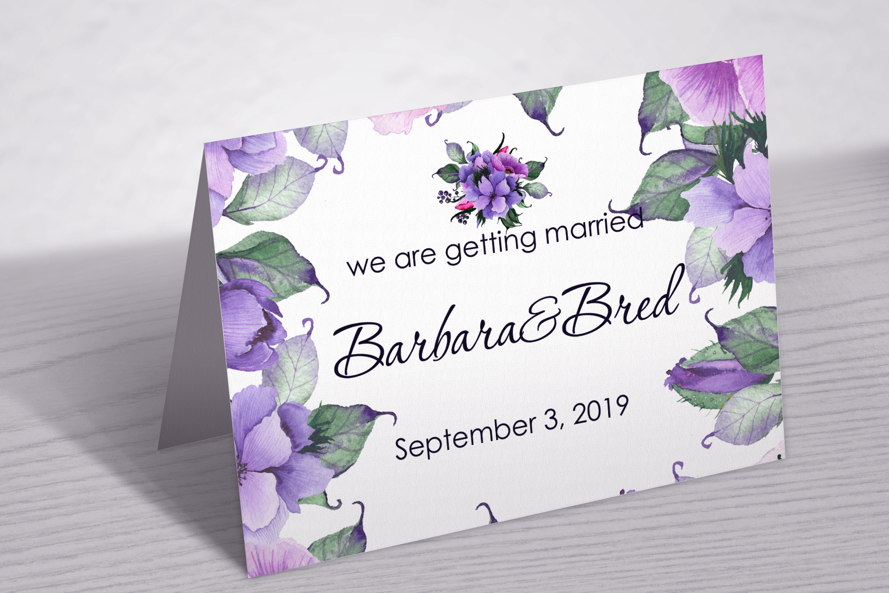 Floral purple green wedding collection example image 10