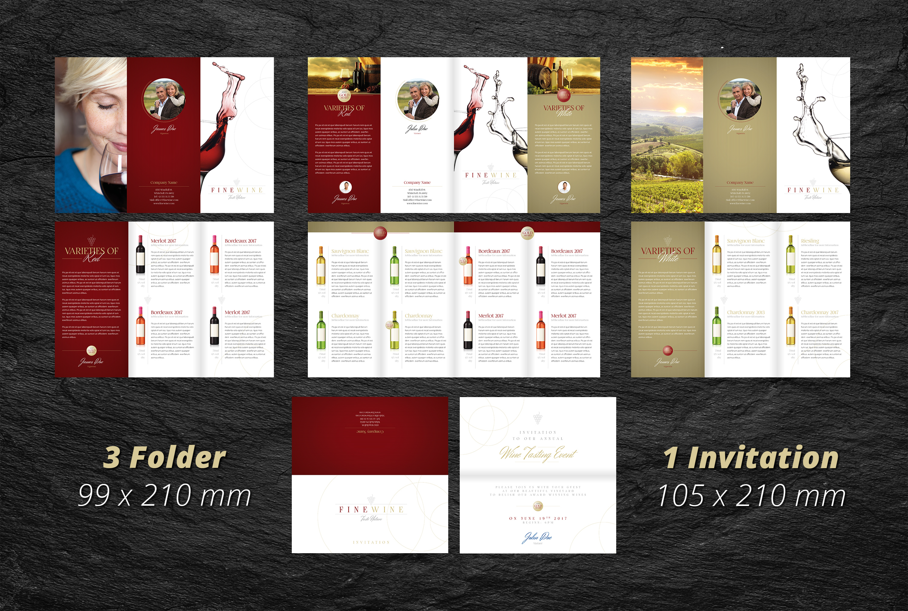 Fine Wine Vol.2 - Folder & Invitation example image 2