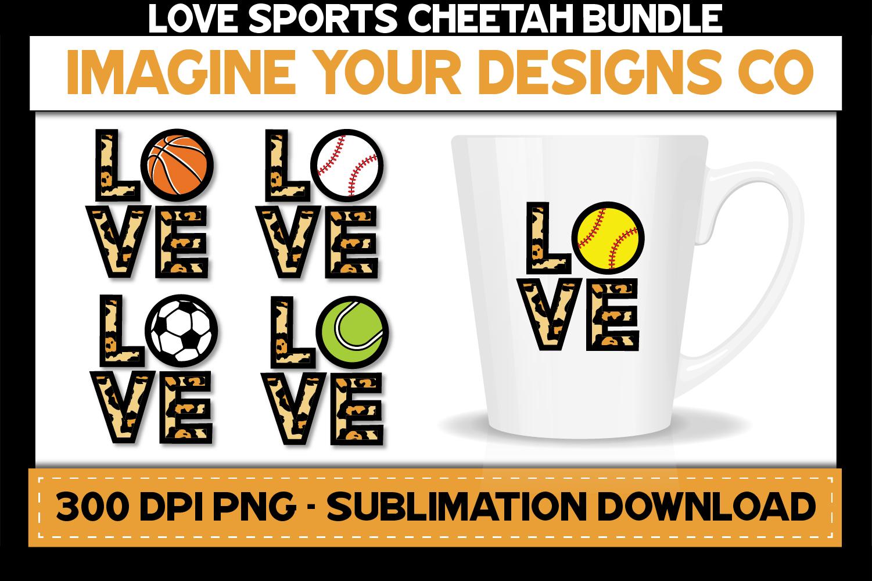 Love Sports Cheetah Sublimation Bundle, Baseball, Basketball example image 1