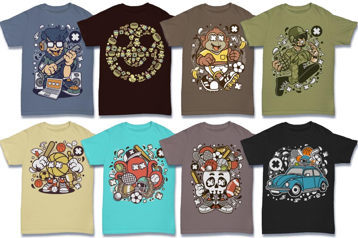 Cartoon Vector #6 Tshirt Design Bundle example image 25