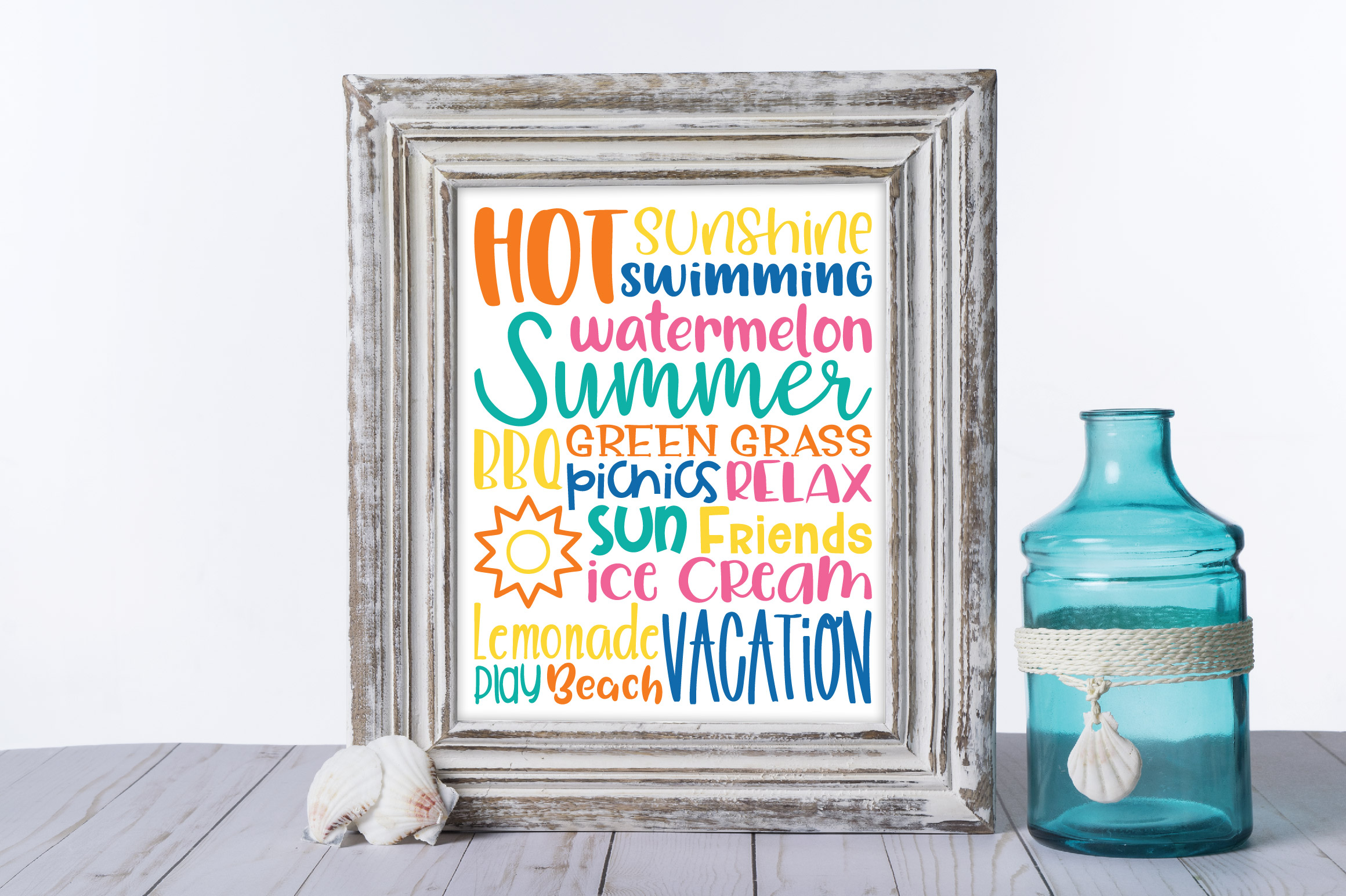 Summer Subway Art SVG Cut File example image 2