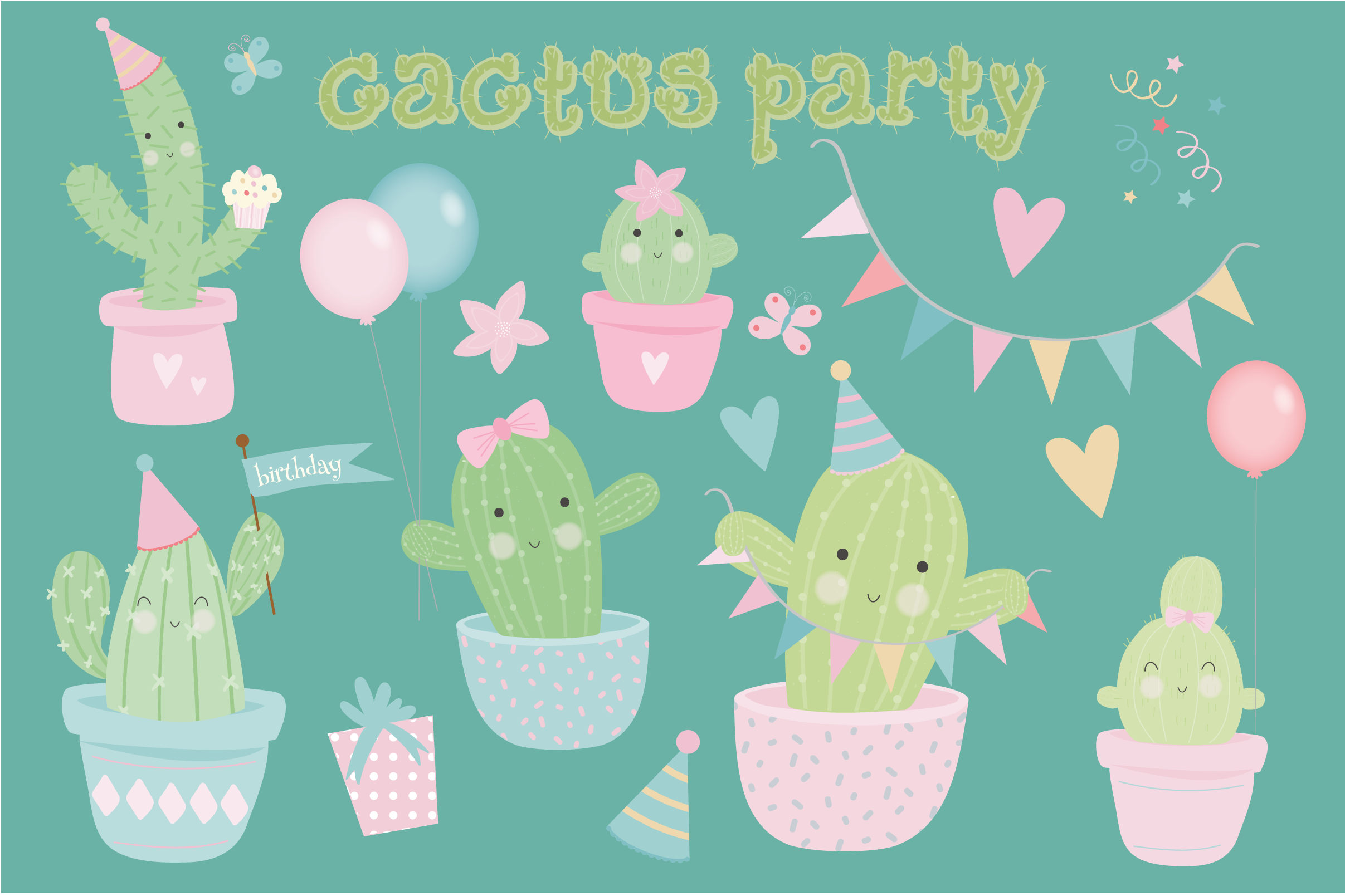 Cactus party pack example image 1