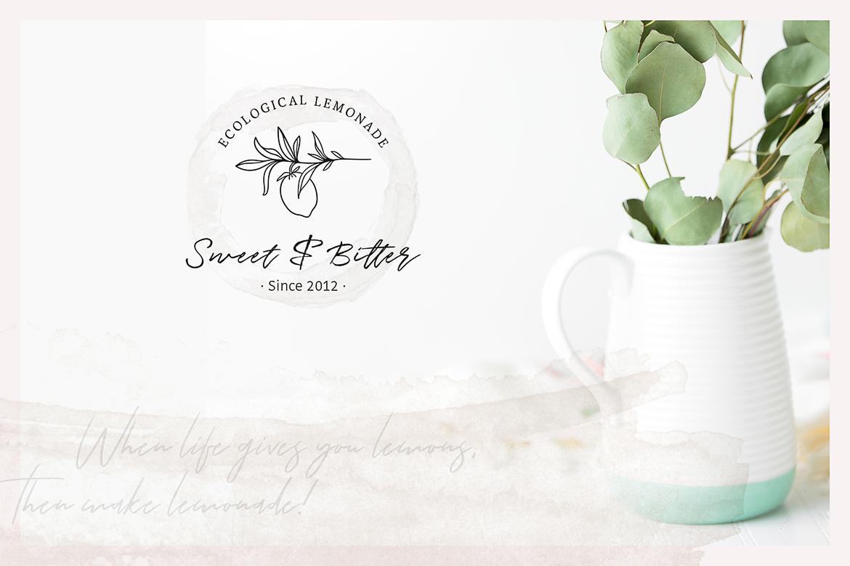 So Flowery Branding Kit + Watercolours example image 7