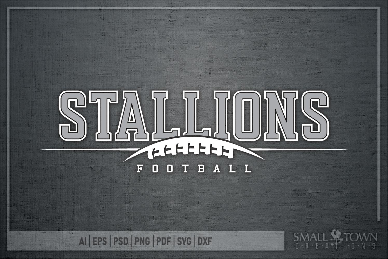 Stallions Football Team, Team, Sport, PRINT, CUT & DESIGN example image 5