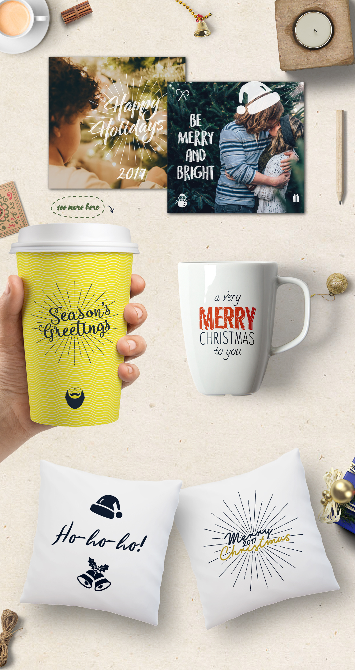 Christmas Bundle | Holiday Svg Crafters, cut files, svg png example image 6