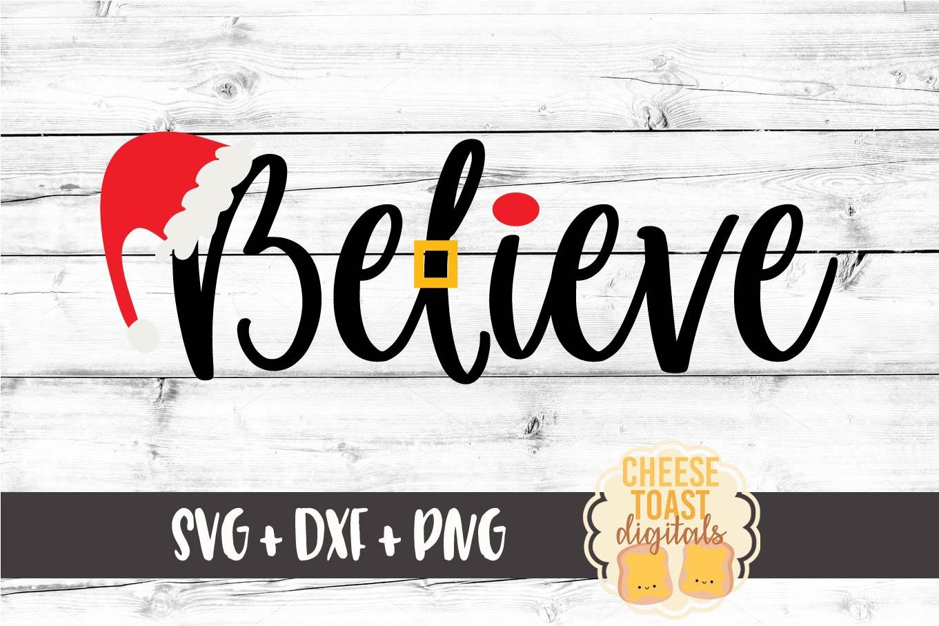 Believe - Christmas SVG Files - Santa example image 2