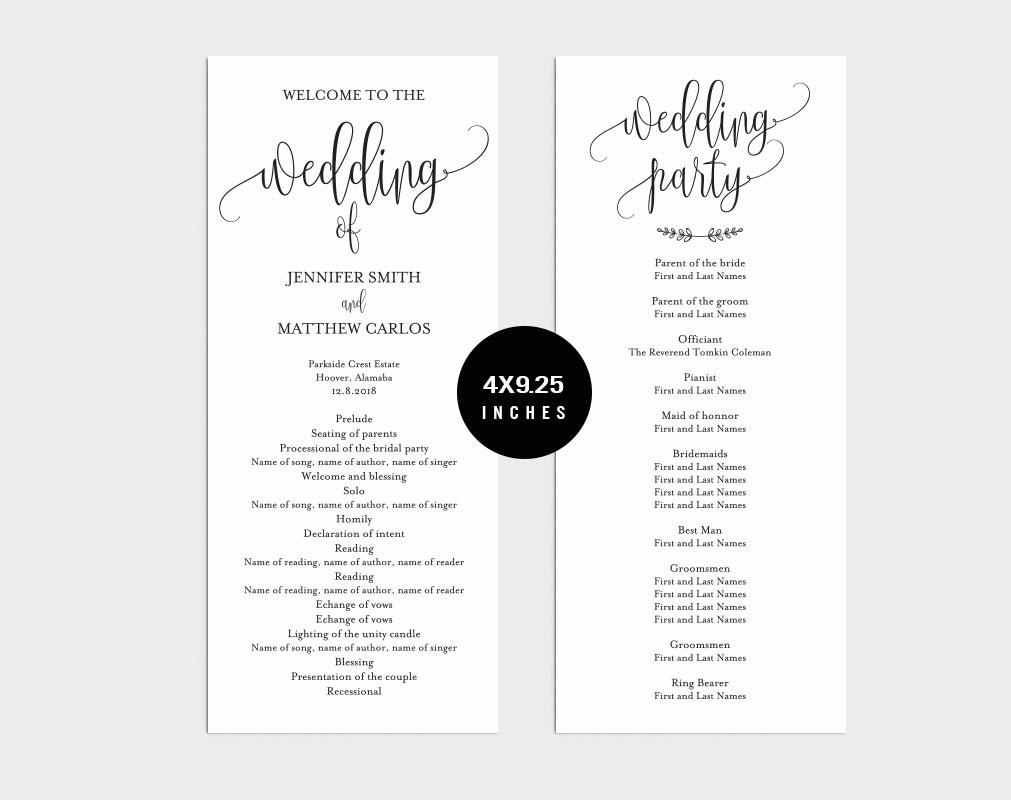 Wedding Program Template example image 2