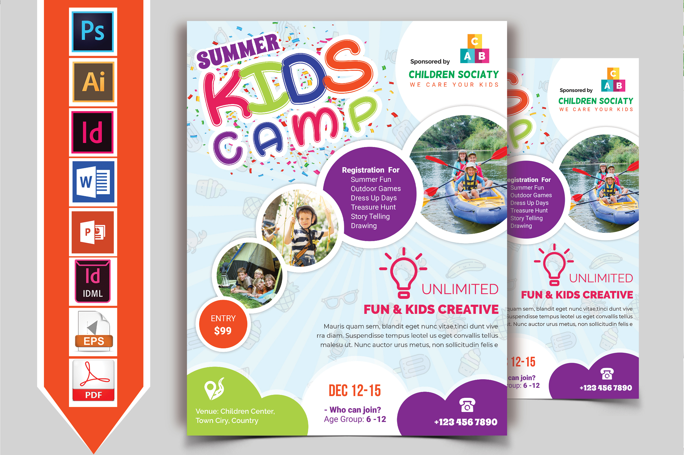 Kids Summer Camp Flyer Vol-06 example image 2