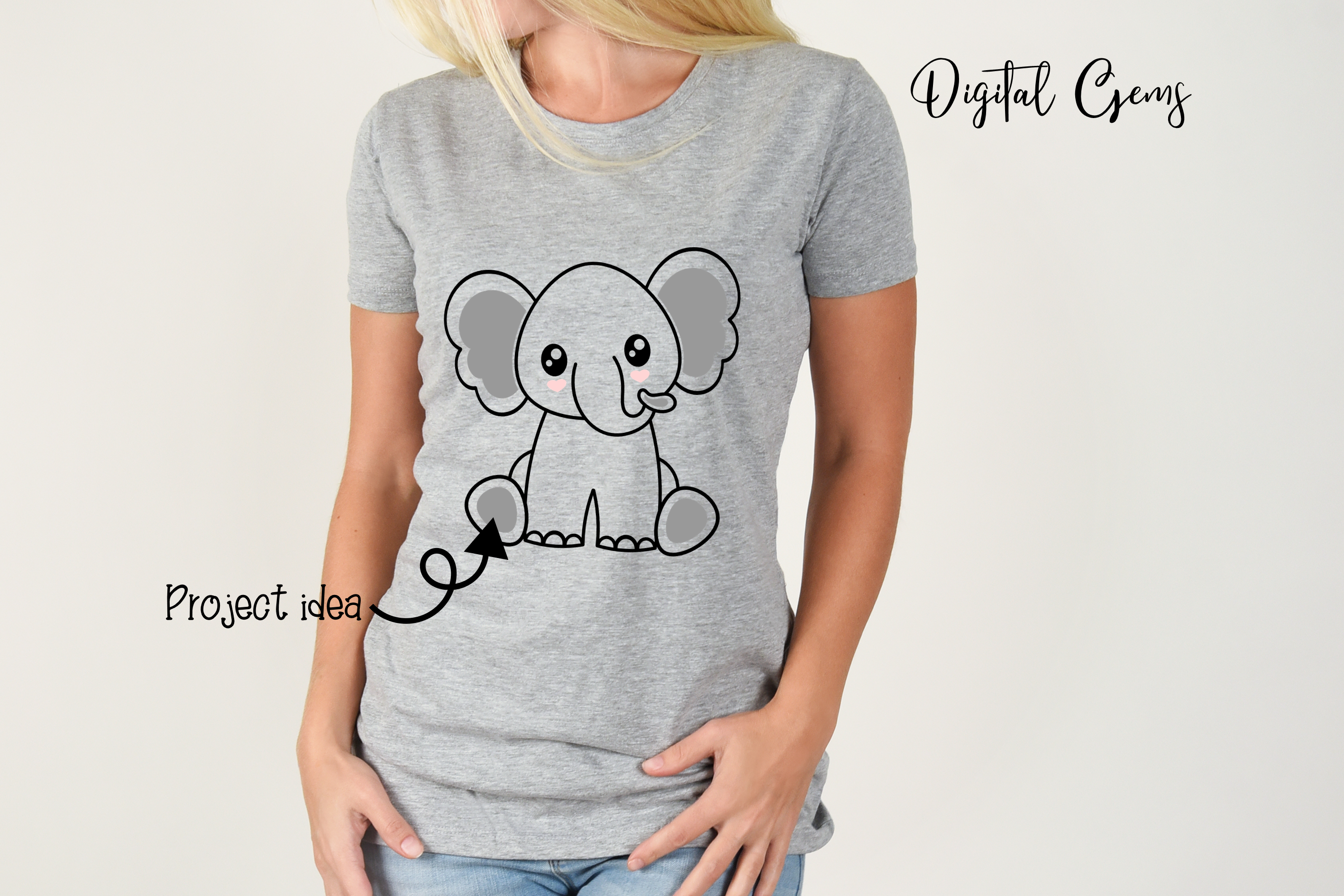 Elephant design SVG / DXF / EPS / PNG files example image 6