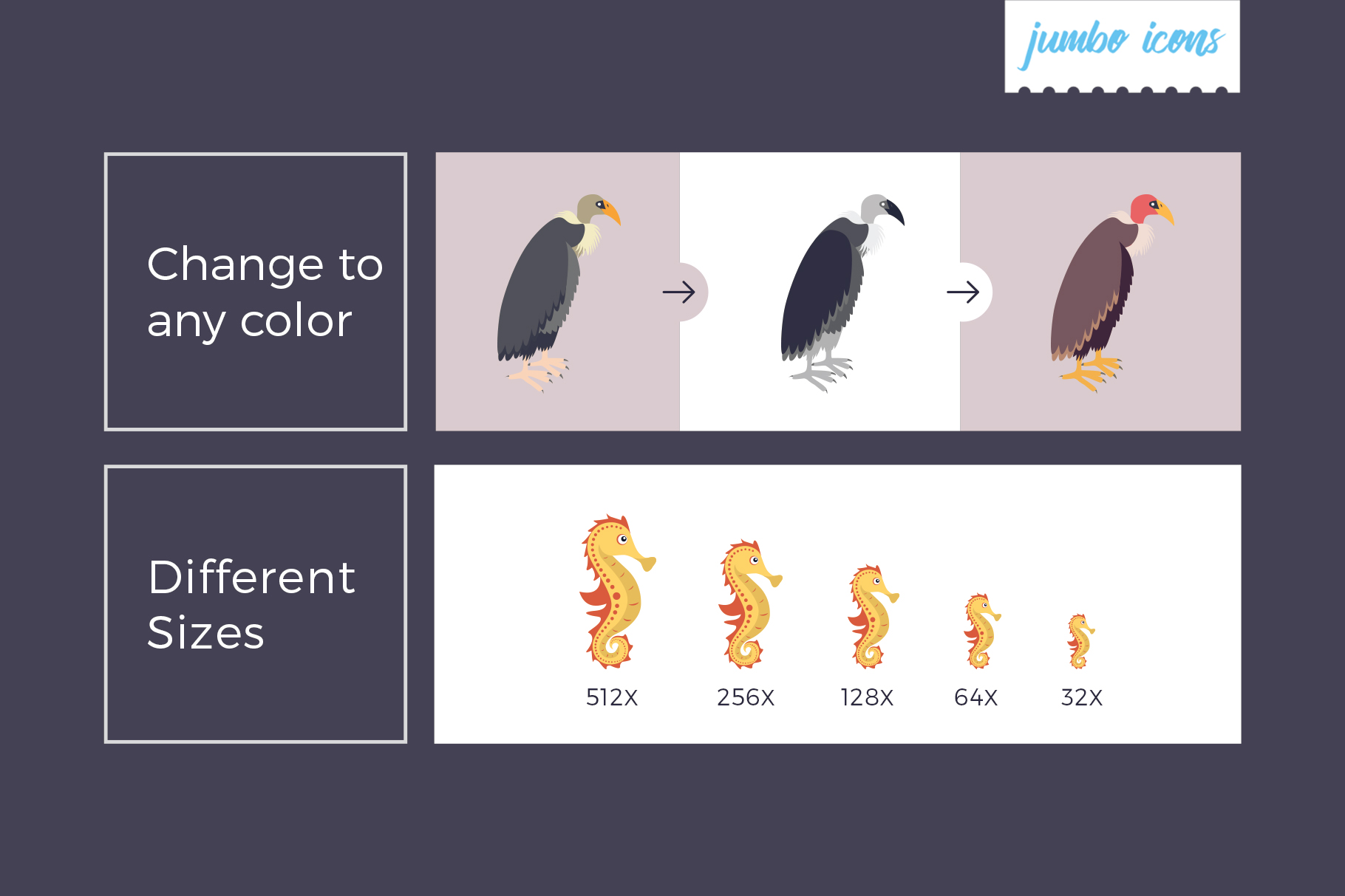 Animals, Birds, Insects Vector Icons example image 3