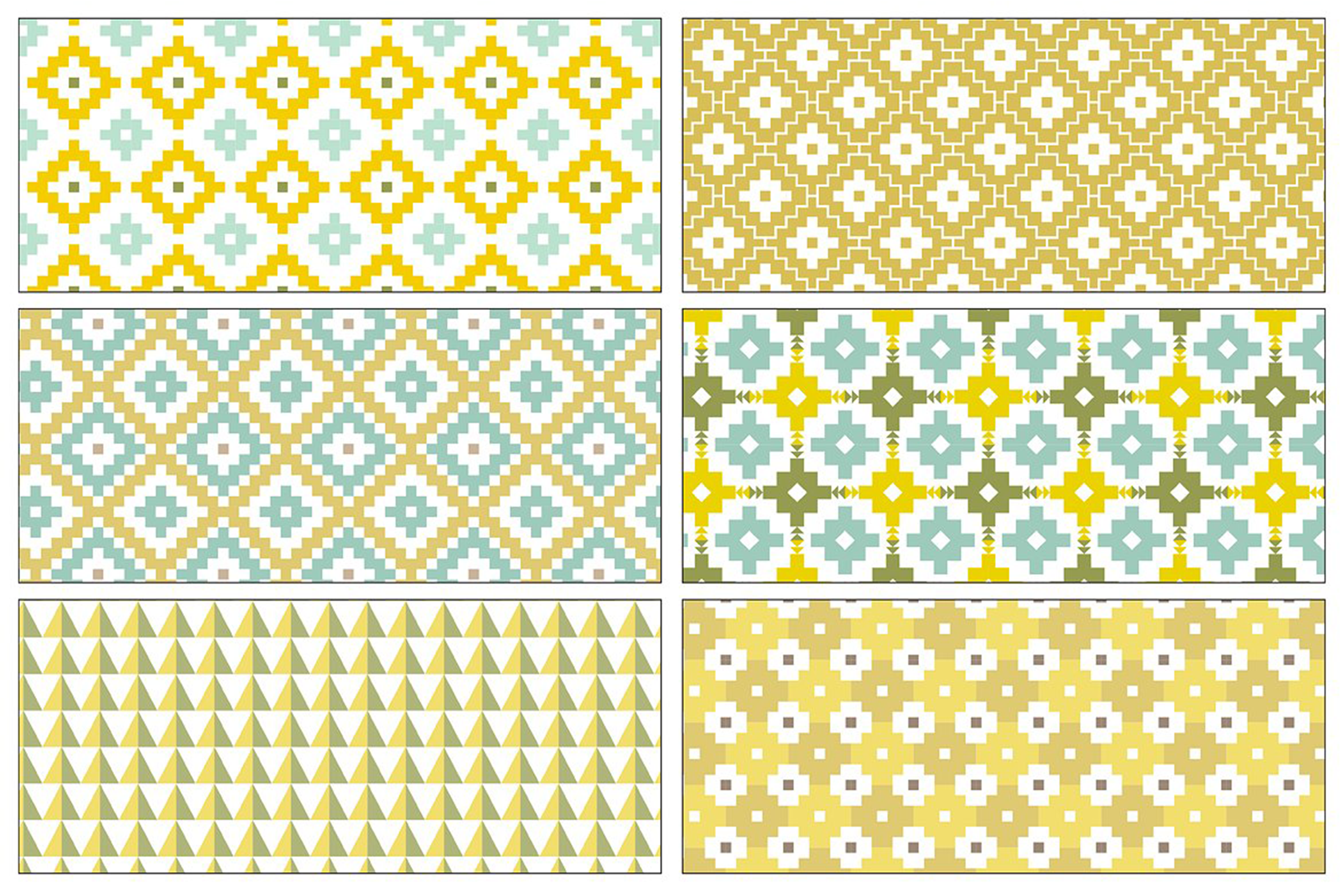 Seamless Pastel Native American Patterns example image 5