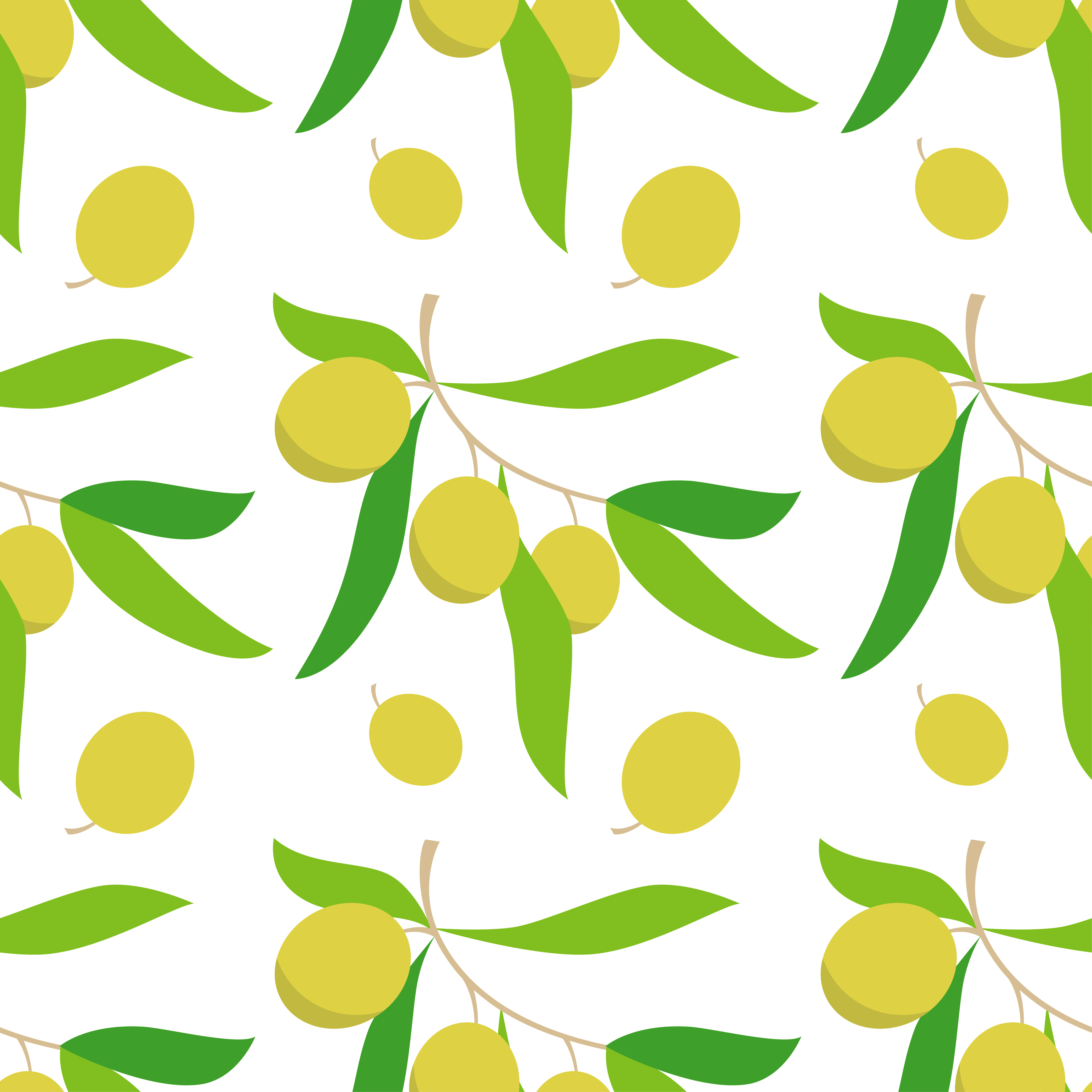 Seamless pattern with olive branches. Retro decorative texture background.  example image 1
