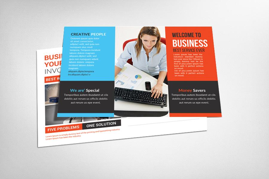 Multipurpose Business Postcard Template example image 1
