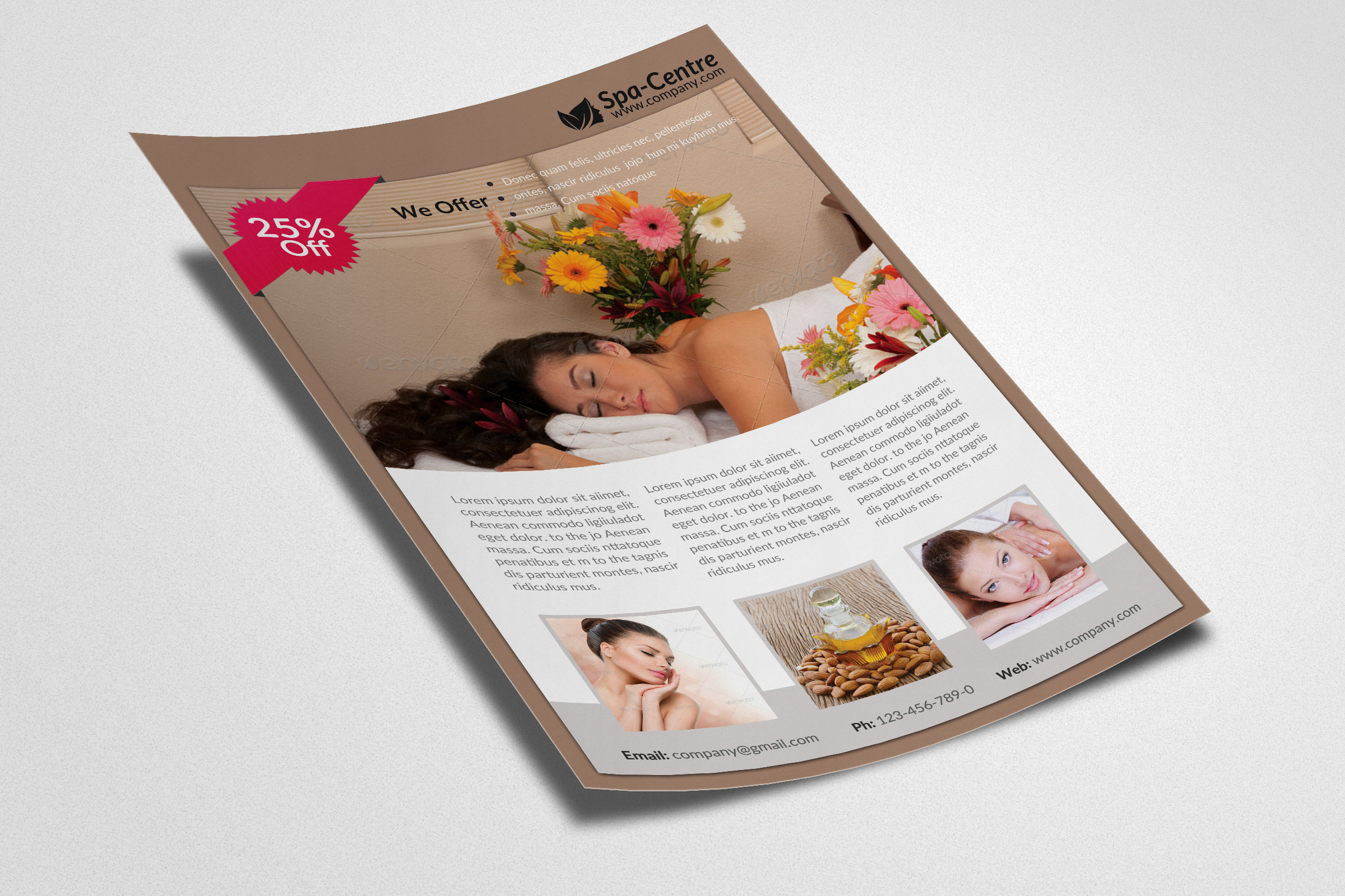 Beauty Spa & Massage Flyer example image 3