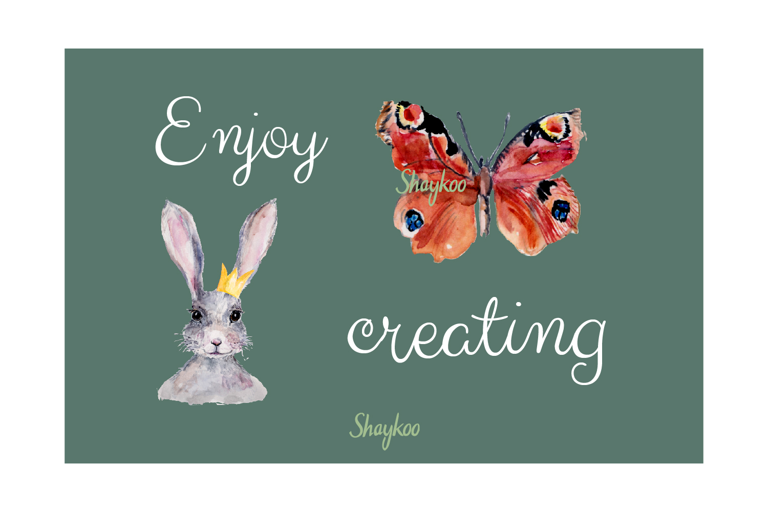 Bunny Watercolor Clipart, Handpainted, Boho, Nursery Bunnies example image 7