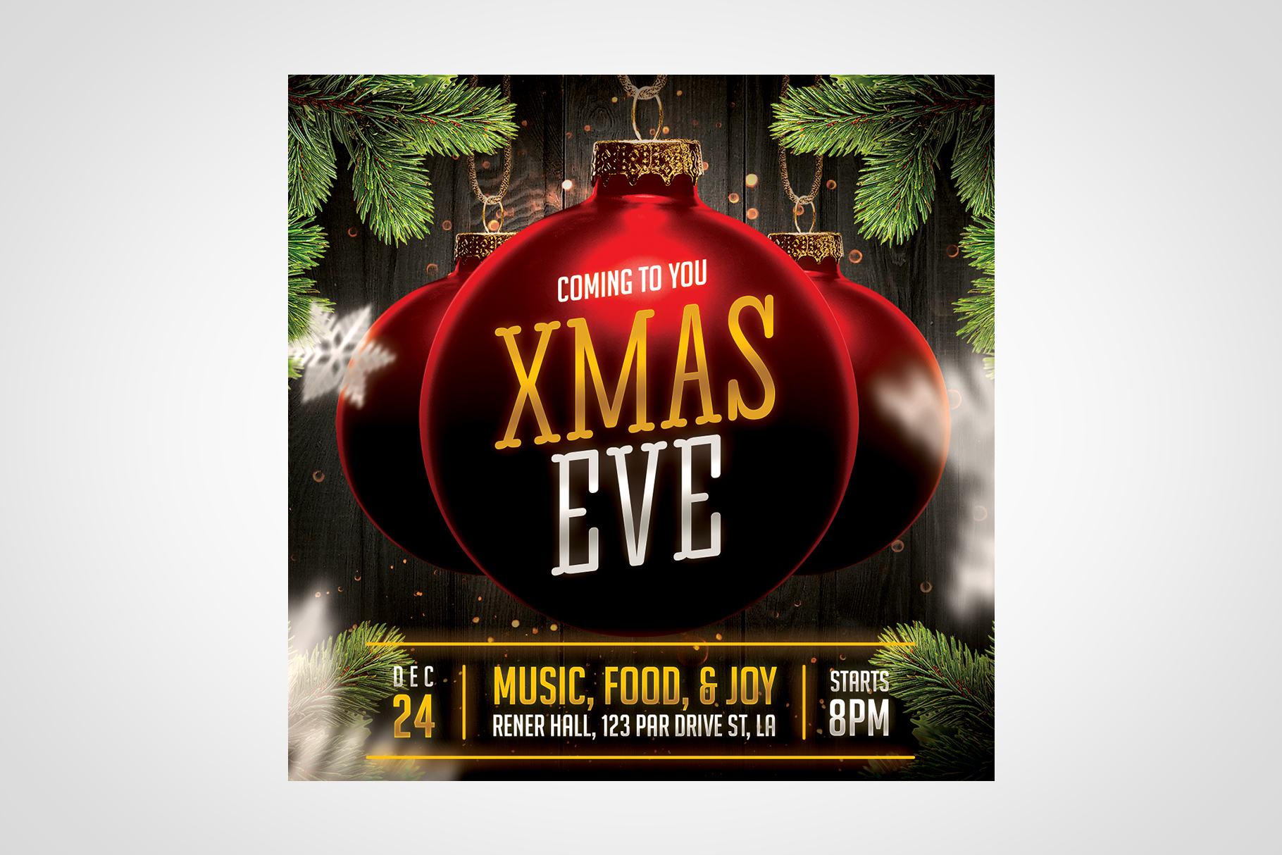 Christmas Event Flyer Template example image 6