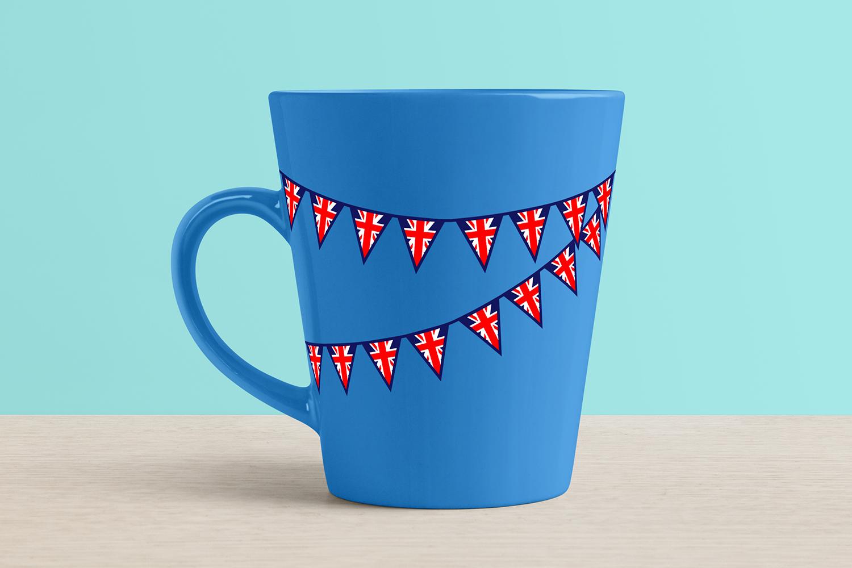 British Union Jack Shapes Clipart Bundle example image 3