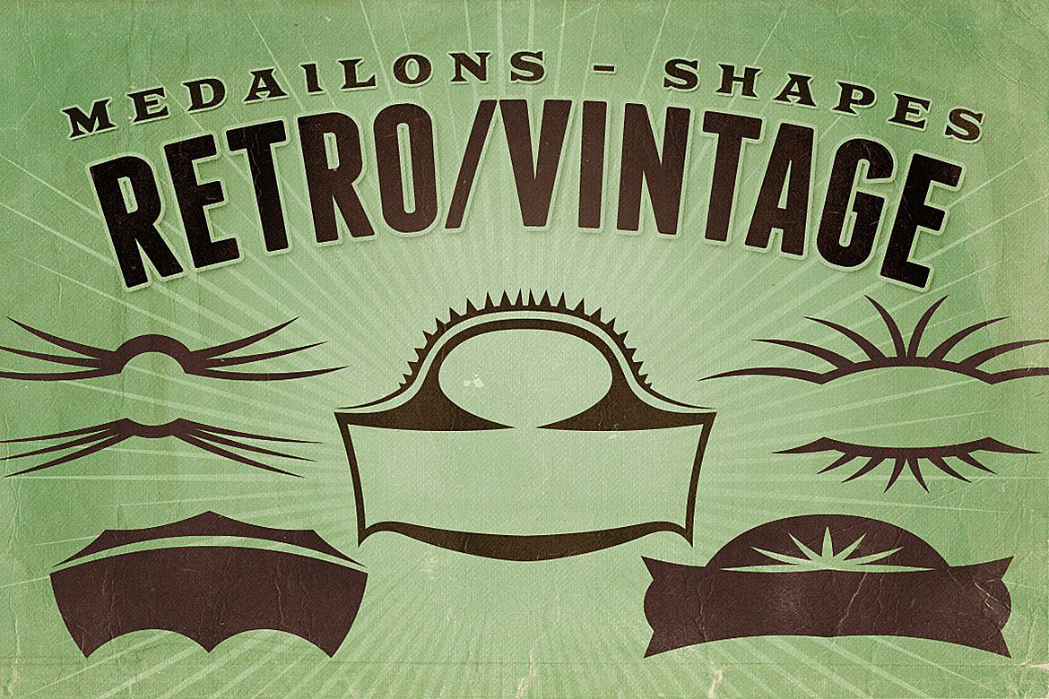 Retro/Vintage shapes - Medailons example image 1