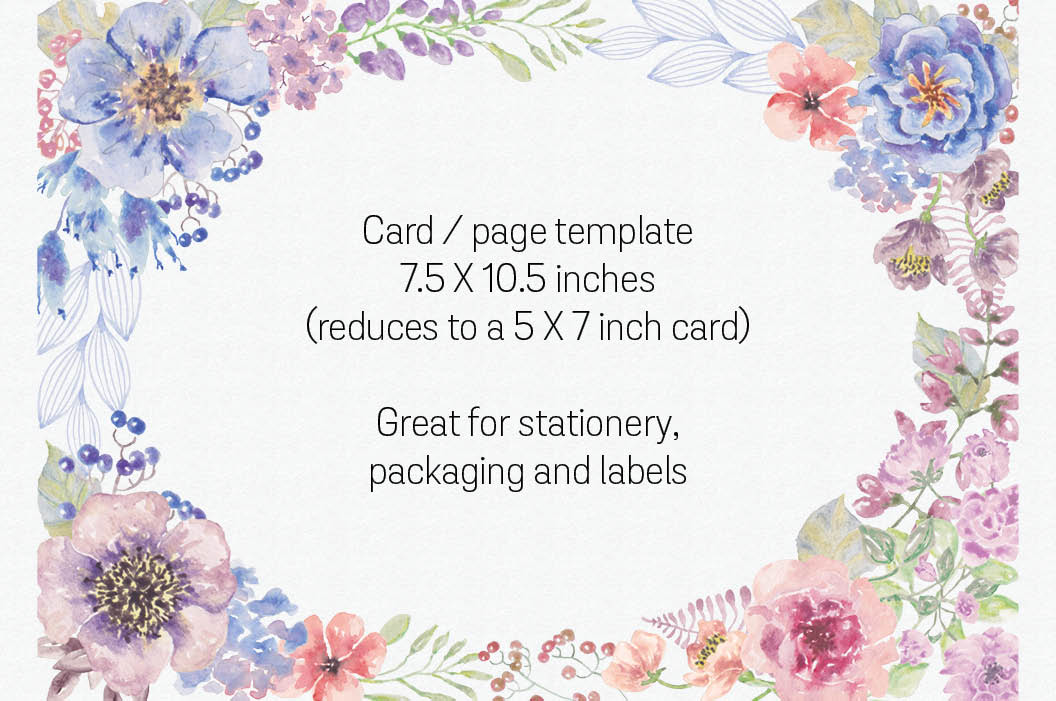 Oval card template in sunset hues example image 2