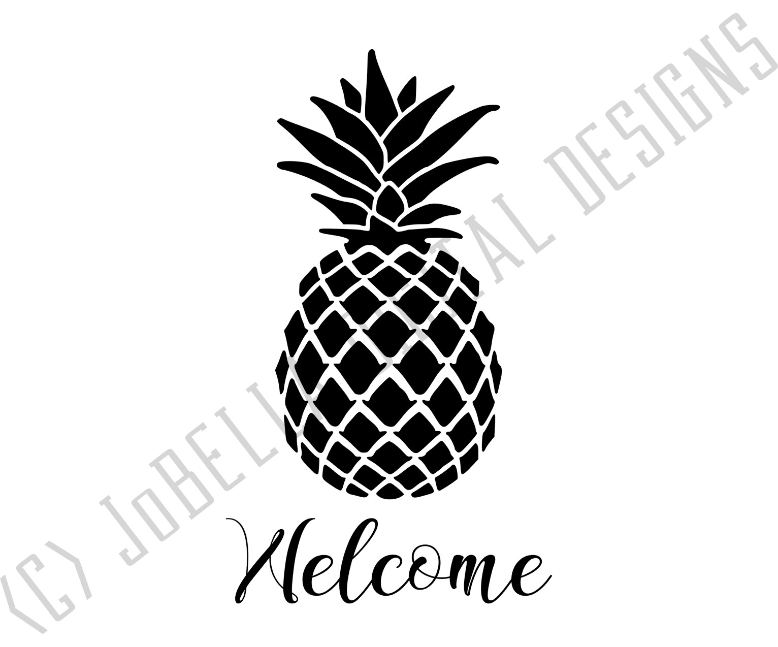picture about Pineapple Printable identify Welcome Pineapple SVG, Sublimation Printable Farmhouse