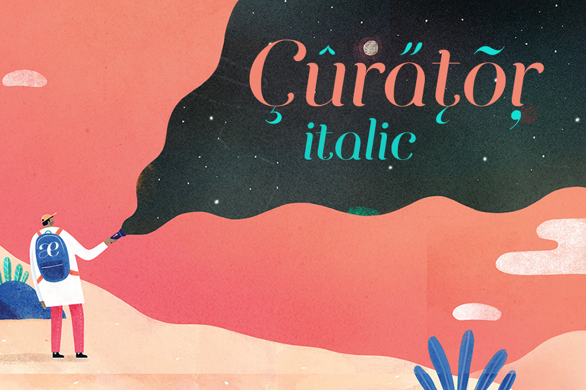 Curator Italic example image 2