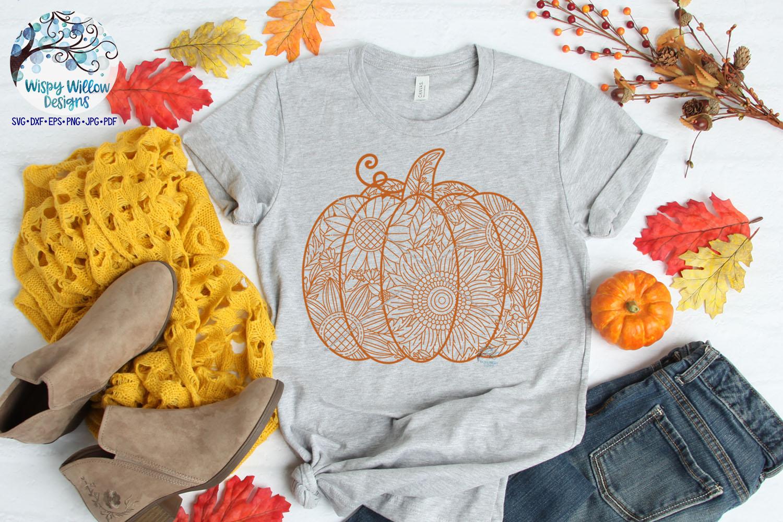 Pumpkin Zentangle SVG | Pumpkin Mandala SVG | Fall SVG example image 3