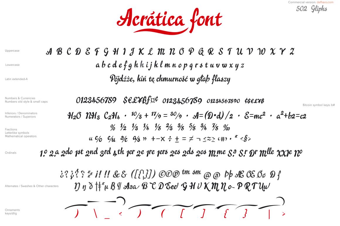 Acrática font example image 3