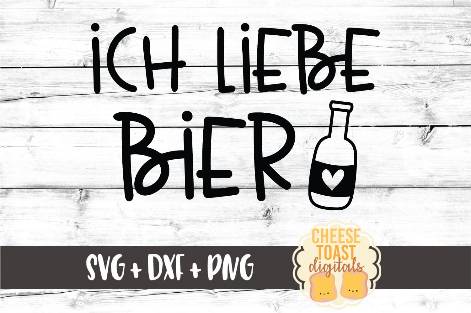 Ich Liebe Bier - Oktoberfest Beer SVG PNG DXF Cut Files example image 2