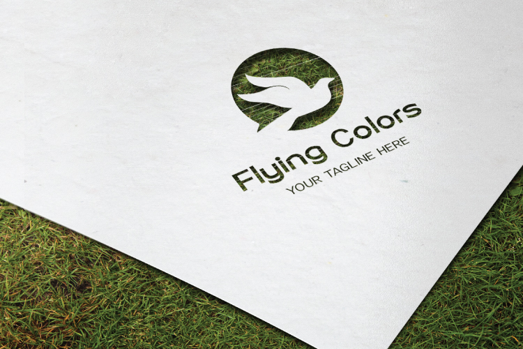 Colorful Flying Dove Bird Logo example image 3