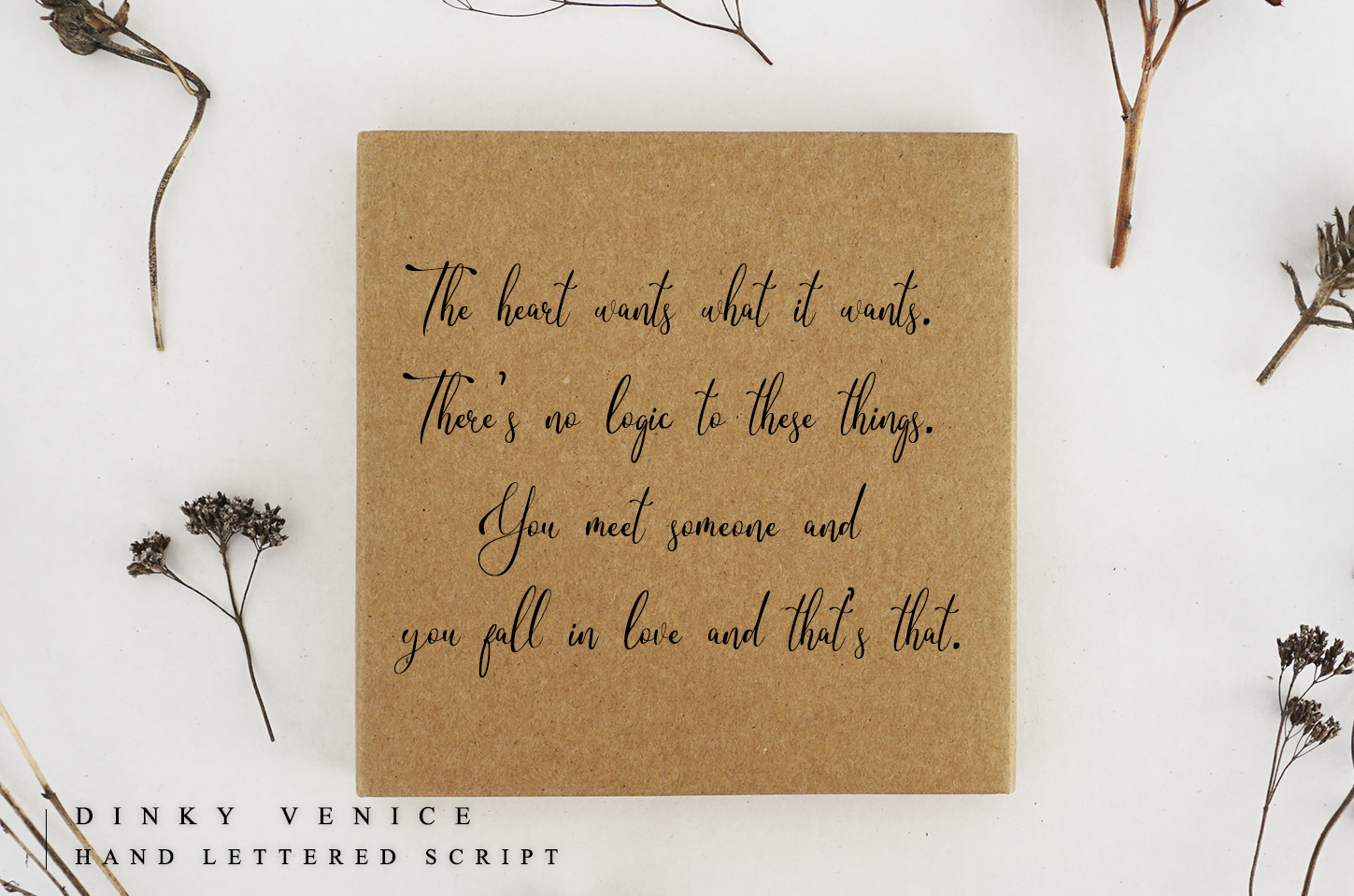 Dinky Venice - Hand lettered font example image 5