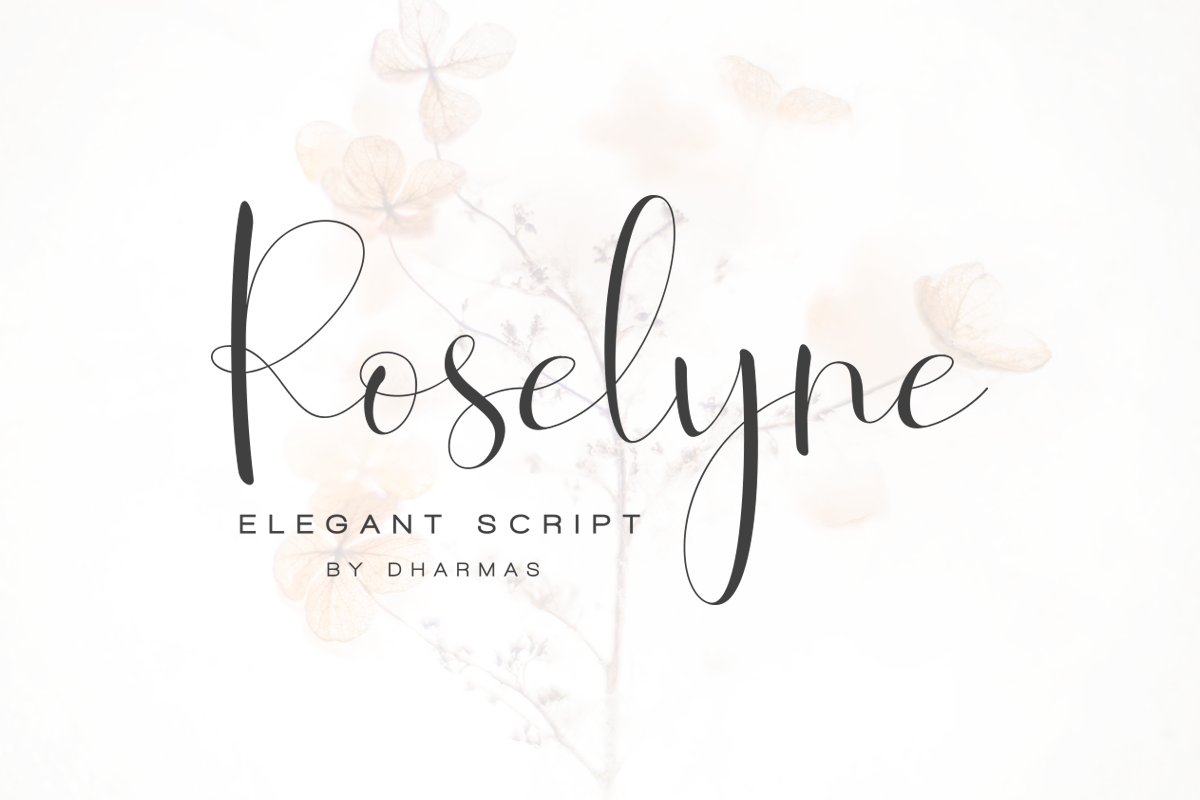 Roselyne Calligraphy Script Font example image 1