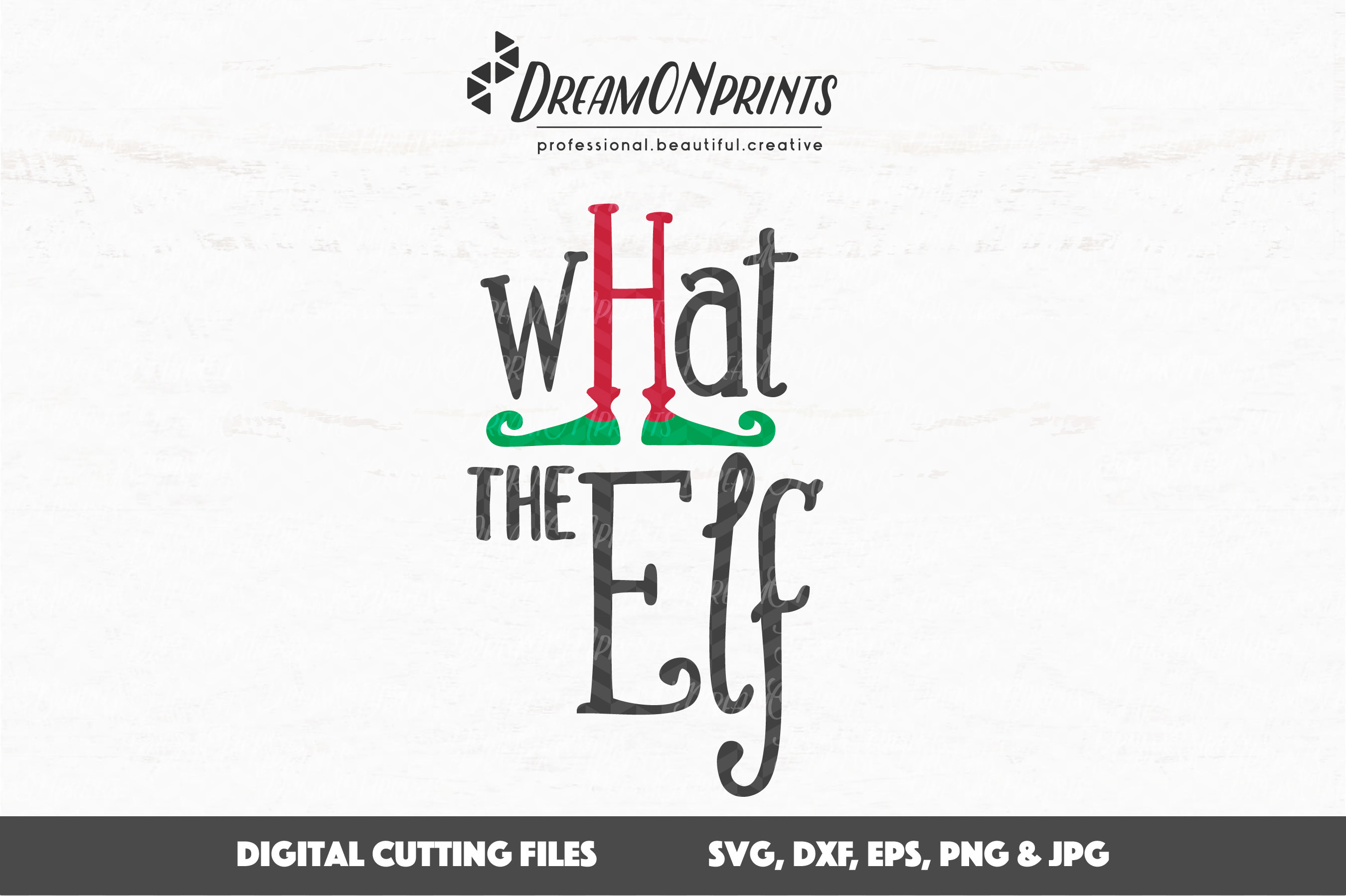 What the Elf - Cute Christmas SVG Cut Files example image 2