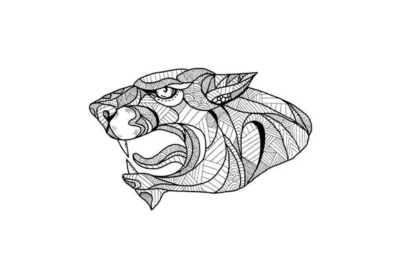 Panther Head Zentagle  example image 1