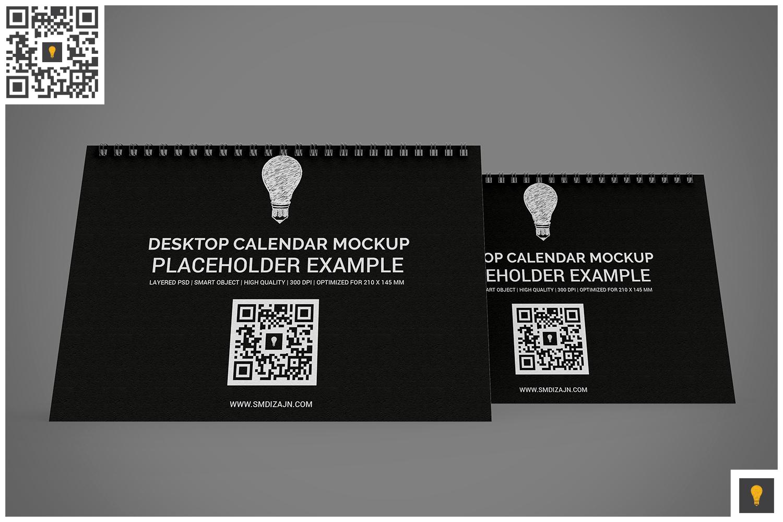 Desktop Calendar Mockup example image 7