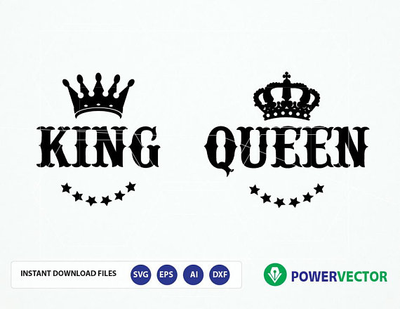 Her King Svg His Queen Svg King And Queen Svg Svg Design: Royal Couple T Shirt Design Svg. King Queen Svg. Svg