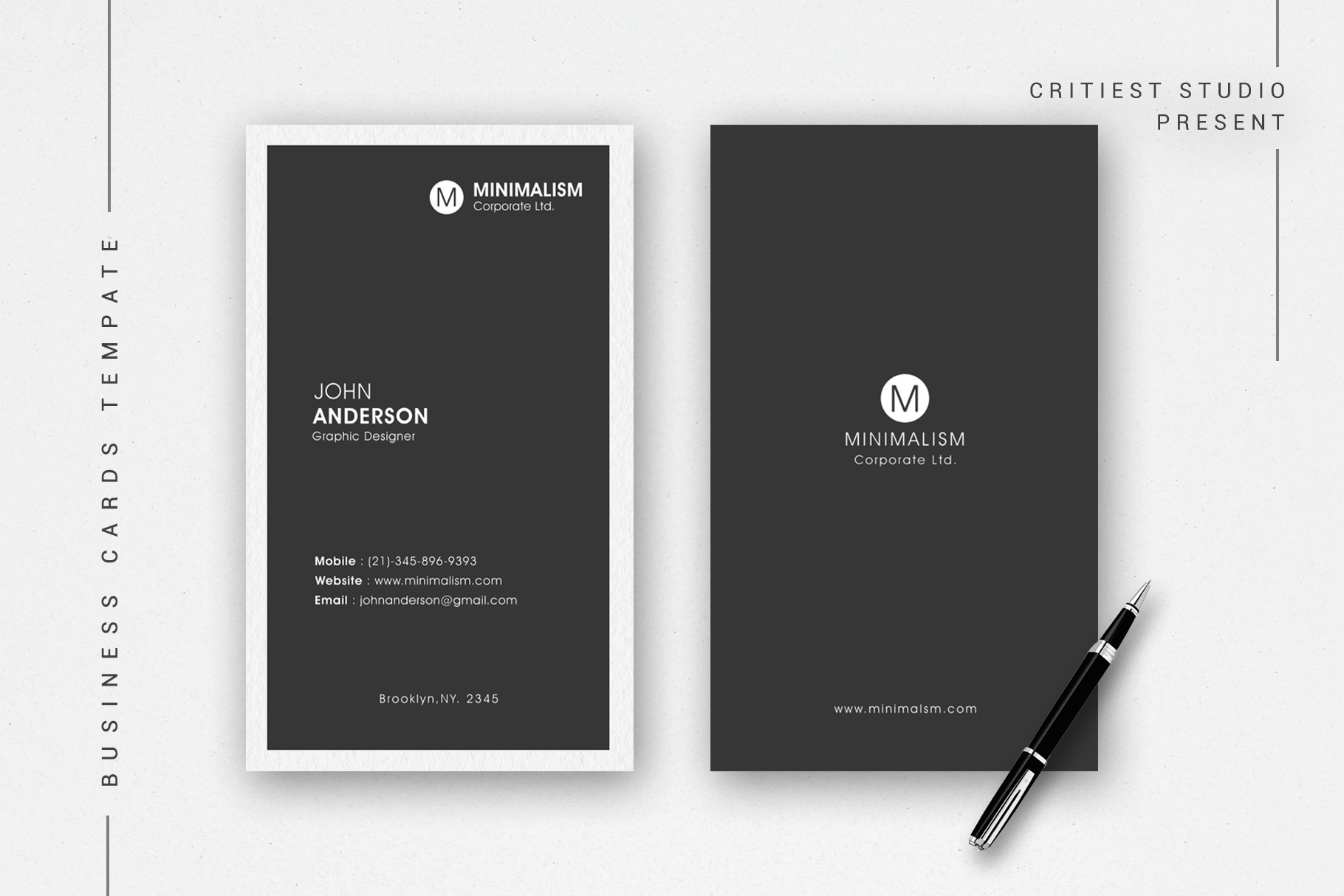 Minimal Business Cards example image 1