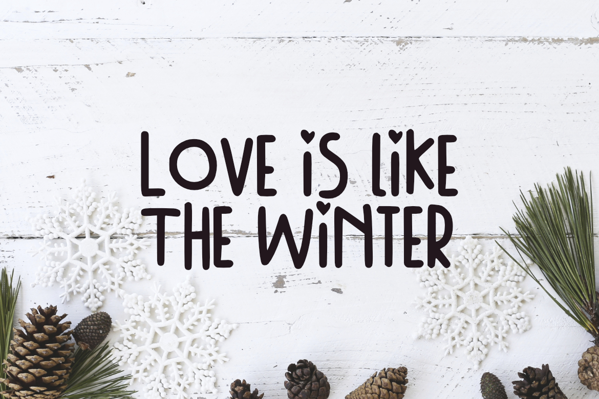 Winter Day Font example image 3